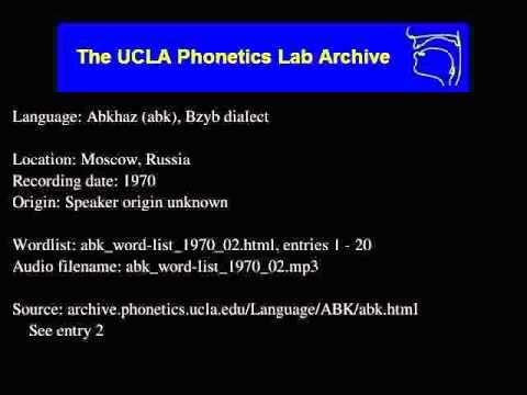 Abkhaz audio: abk_word-list_1970_02