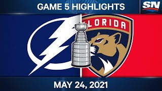 NHL Game Highlights   Lightning vs. Panthers, Game 5 - May 24, 2021