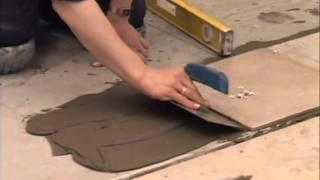 16. Укладка плитки на пол и стены и затирка швов
