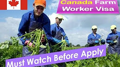How To Get Canada Farm Worker Visa | Must Watch Before Apply