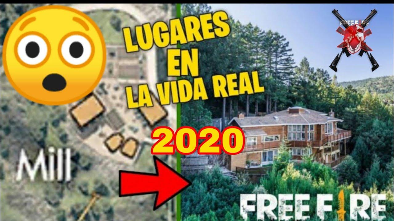 LUGARES de FREE FIRE  en la  VIDA REAL  // No Creerás como son 😲 2020