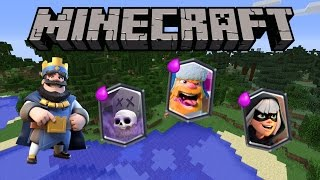 CLASH ROYALE IN MINECRAFT! | Legendary Cards | 1.11 | NO MODS