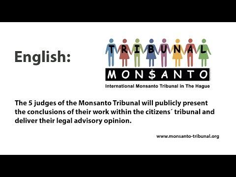 Monsanto tribunal English Audio channel