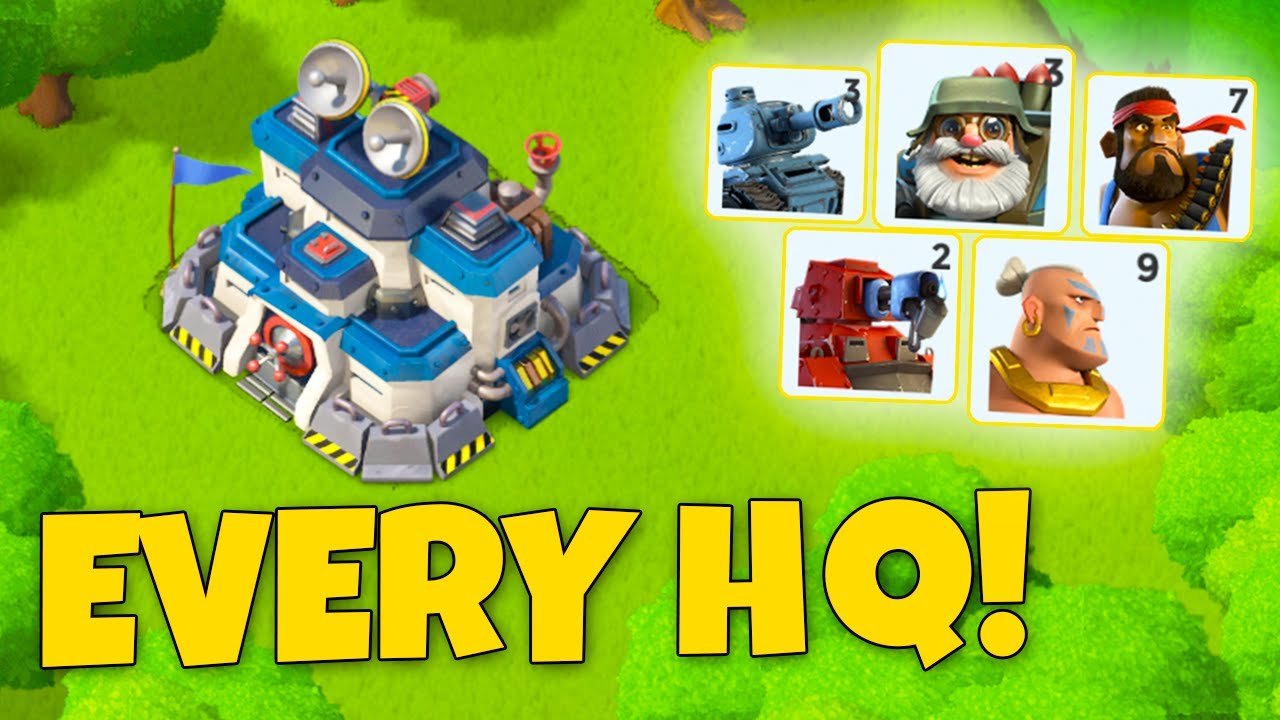 Download Best Troop to use at EVERY HQ Level in Boom Beach!