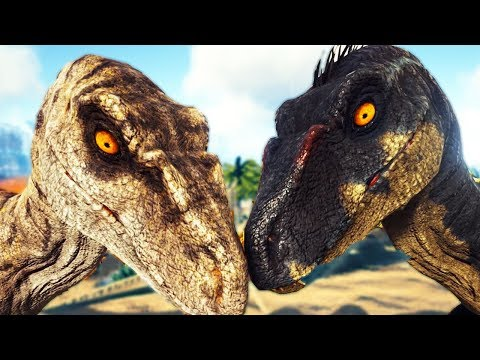 HUNTED by Rare Jurassic Park 3 Raptors! New Aquatic Hybrid! - Ark Survival Evolved