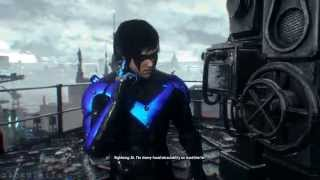 Batman: Arkham Knight DLC Nightwing Story GCPD Lockdown - Stop Penguin's Escape from GCPD