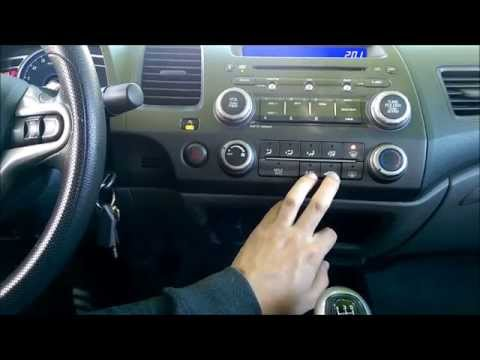 How to turn off AC on Defrost in 2006-2011 Honda Civic - IMPROVES POWER AND FUEL ECONOMY!