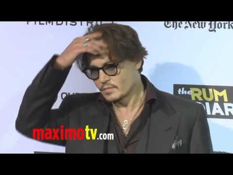 "Johnny Depp ""The Rum Diary"" Premiere"