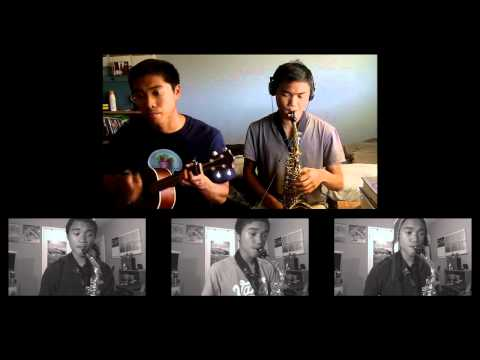 GLEE inspired:Somewhere Only We Know (sax n' uke) cover