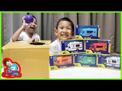น้องบีม | รีวิวของเล่น EP104 | รถเหล็กไดคาสในกล่องกระดาษ Toys