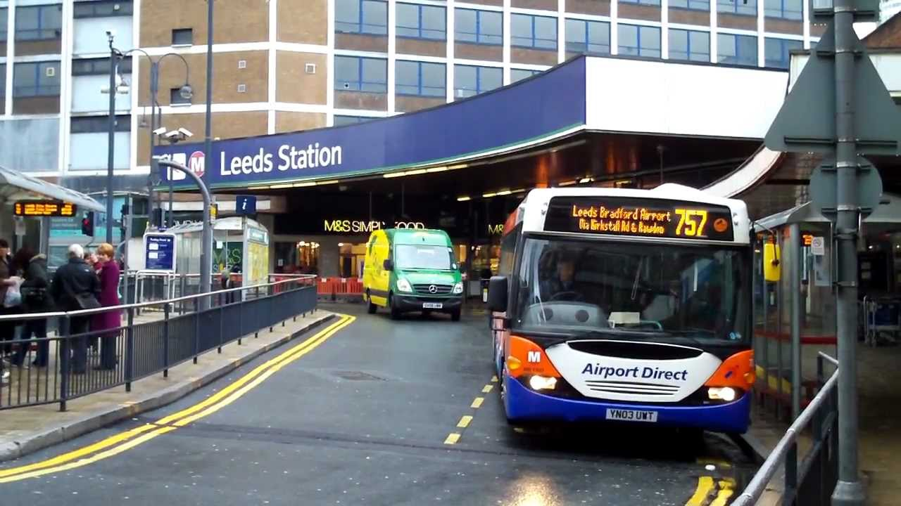 Leeds Bus 757 City Centre Airport YouTube