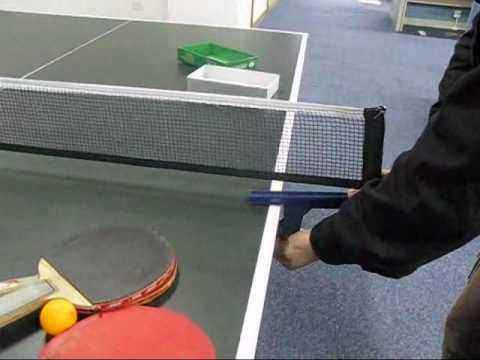 Folding Table Tennis Ping Pong Ball Net and Post Set.flv - YouTube