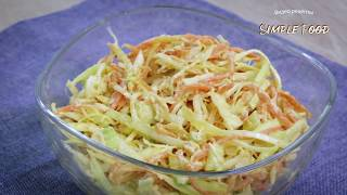 Салат с капустой и курицей к УЖИНУ! Готовится из простых продуктов!