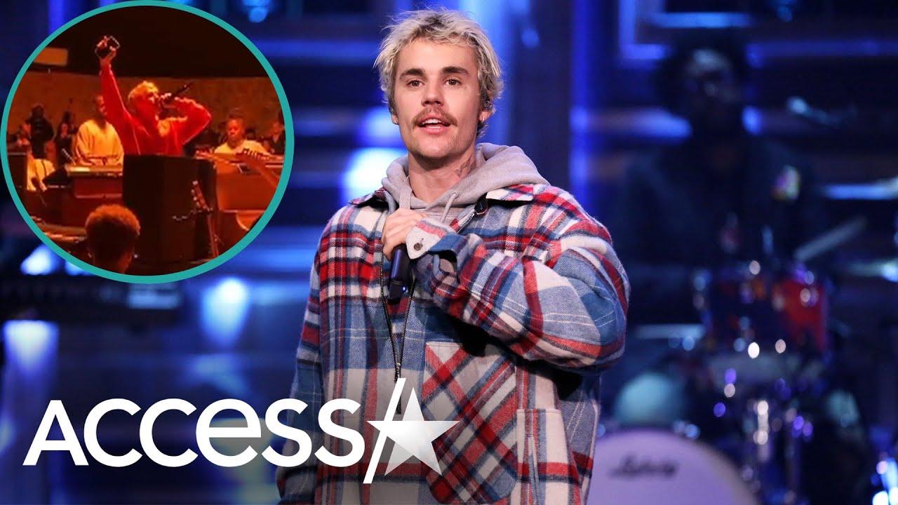 Justin Bieber Sings An Emotional Ballad At Kanye's Sunday Service