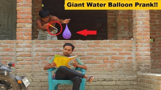 Giant Water Balloon Prank On Crazy Guy!! Part 2