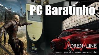 PC Baratinho para jogar vs The Witcher 3 e Project Cars