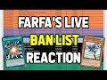Farfa's LIVE ban list REACTION! Initial thoughts & review!