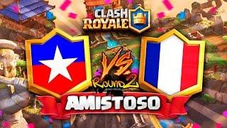 CHILE vs FRANCIA (Round 2) // Clash Royale Amistoso en DIRECTO 🔴 - Preparacion CR Worlds
