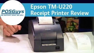 Our review of the epson tm-u220 impact receipt printer. two color printing and heat-resistant paper make perfect for kitchen printi...