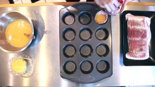 How To Make Delicious Bacon And Egg Muffins!