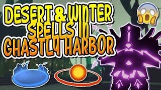 DESERT & WINTER SPELLS IN GHASTLY HARBOR IN DUNGEON QUEST!! (Roblox)