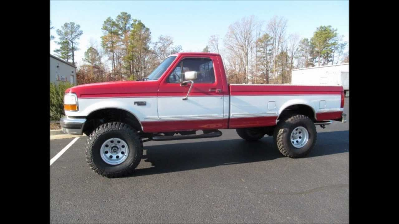 1994 ford f 150 xlt lifted truck for sale youtube