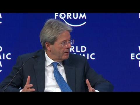 WEF 18, intervento di Gentiloni alla sessione speciale dedicata all'Italia