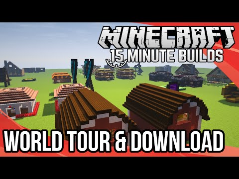 Minecraft 15-Minute Builds: World Tour & Download! (Special Episode)