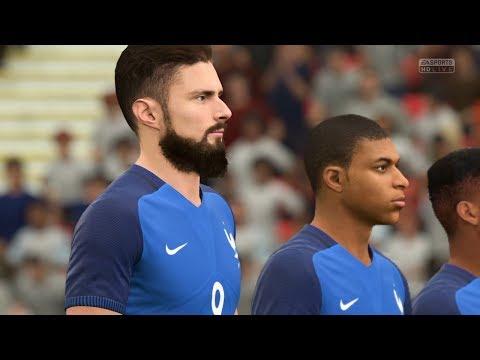 England Vs. France Wembley Stadium FIFA 18 Gameplay (PS4, XBox One)