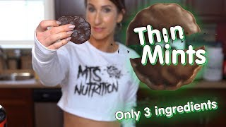 3 Ingredient Thin Mint Protein Cookies