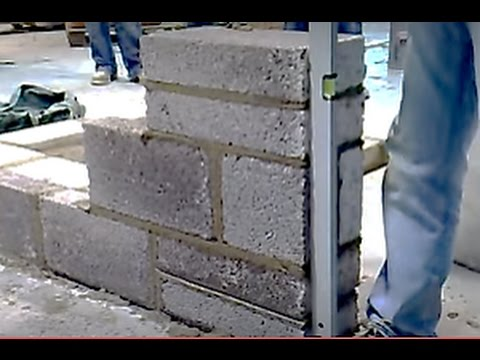Building a lead blockwork video 6 of 8 youtube for Building a house on concrete piers