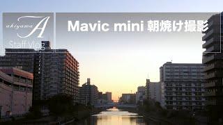 [Staff Vlog]Mavic mini 朝焼け撮影