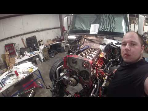 ISX Engine re build PT46 overhead cams install by Rawze