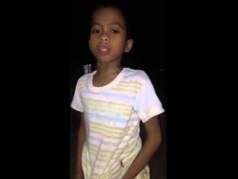 Filipino Little boy sings Hey mama by...