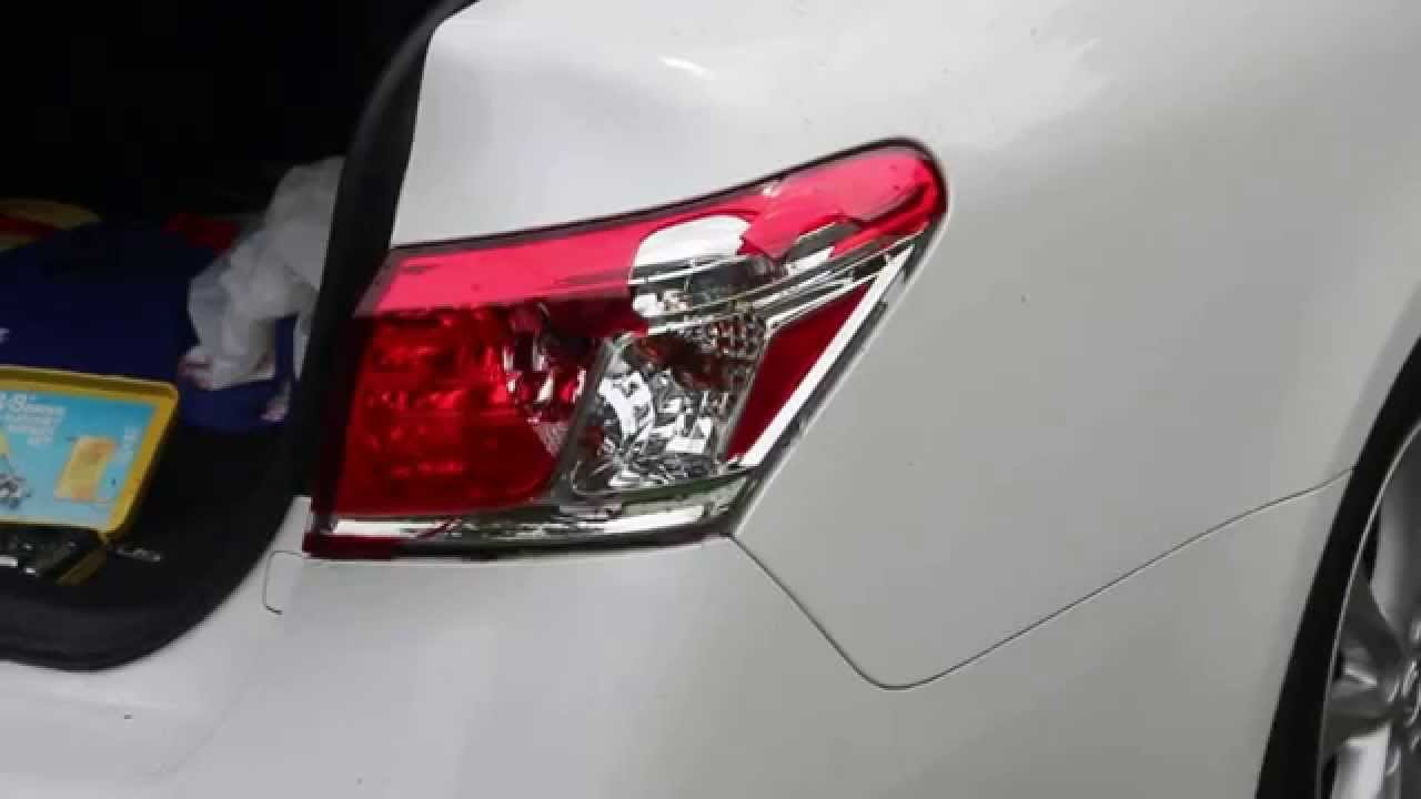 2010 Lexus Es350 Tail Light Removal Youtube