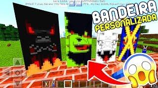 COMO FAZER BANDEIRA PERSONALIZADA NO MINECRAFT PE 1.2 OFICIAL ! - (Minecraft Pocket Edition)