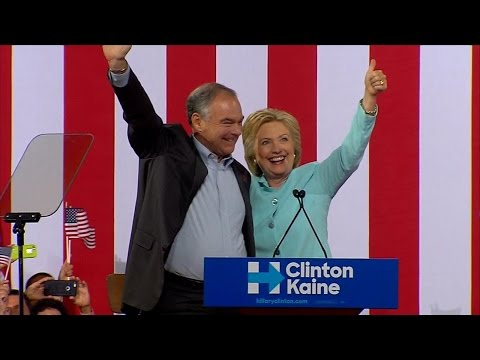 Hillary Clinton Officially Introduces Tim Kaine During Campaign Rally| ABC News