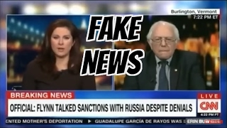 CNN Cuts Off Bernie Sanders After He Calls Them Fake News : FUNNY! FULL COMPLETE VIDEO