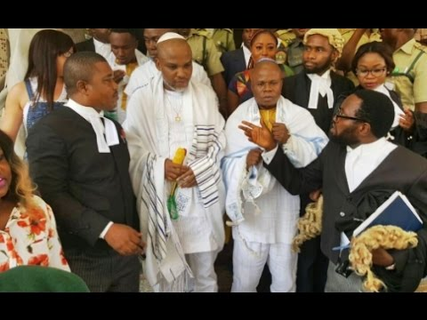 "Nnamdi Kanu Dresses In Jew Costume To Court… Says ""Nigeria Is Country Of Savages And Animals"""