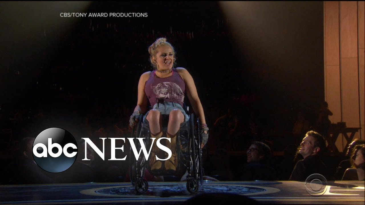 ABC News:Ali Stroker becomes first actress who uses wheelchair to win Tony