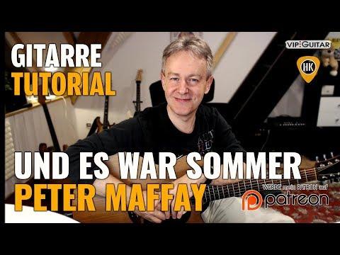 Gitarre Tutorial: Und es war Sommer - Peter Maffay