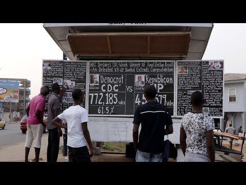 The Daily Talk: Liberia's blackboard newspaper