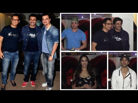 Sanjay Suri & Nora Fatehi At Special Screening Of Film My Birtday Song   Bollywood Events