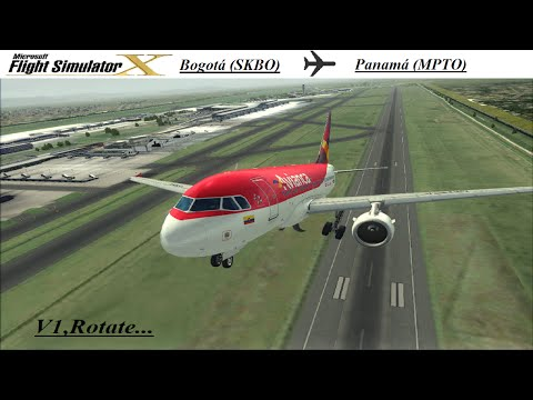 [FSX] AS-A318 | AVA8380 | Bogotá (SKBO) - Panama (MPTO) [IVAO] PRIMER VIDEO ! :´)