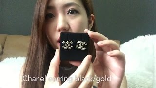 Review Chanel earring black gold (Shop Brandname)