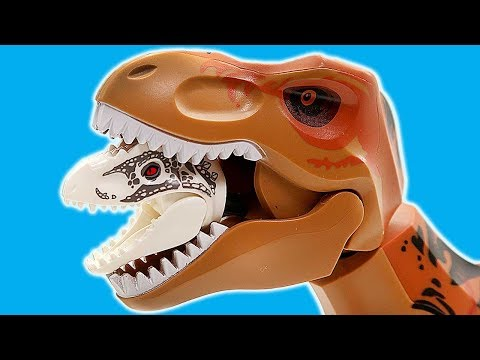 Lego Dinosaurs Jurassic World Toys! Scary Indominus Rex VS T-Rex