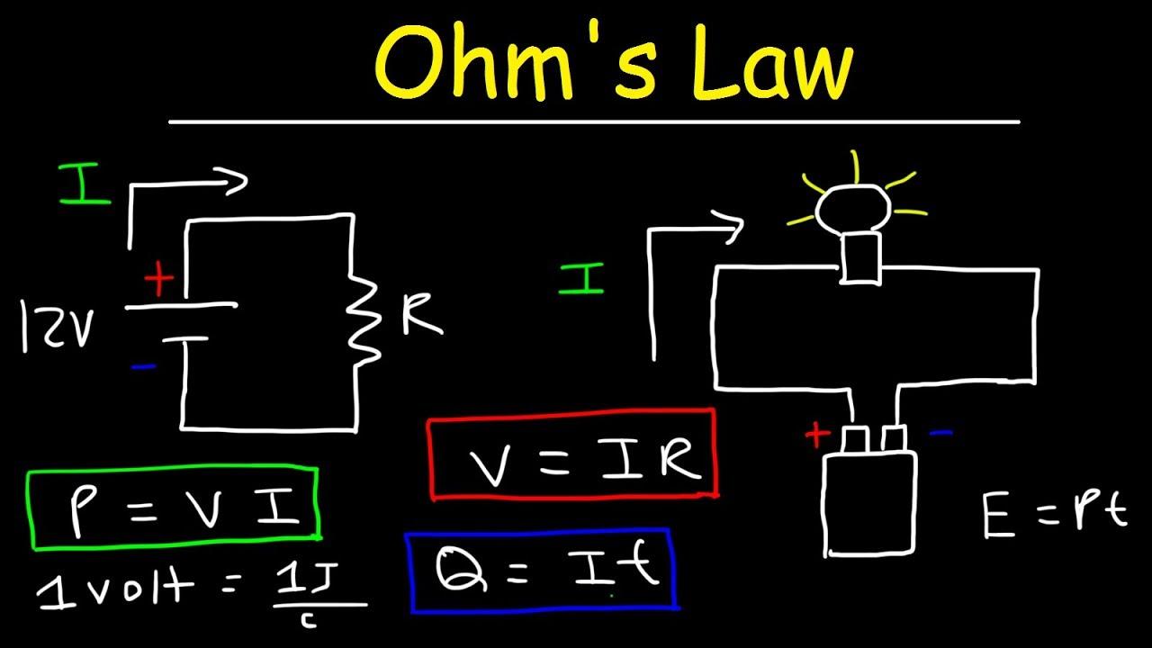 Ohm's Law Explained - Voltage, Current, Resistance, Power ...  Voltage