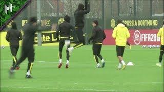 Haaland Hits Ronaldo Celebration In Dortmund Training | Dortmund v PSG | Champions League