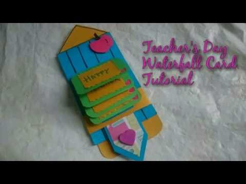 DIY Teacher's Day Waterfall Card Making Idea | How To | Craftlas