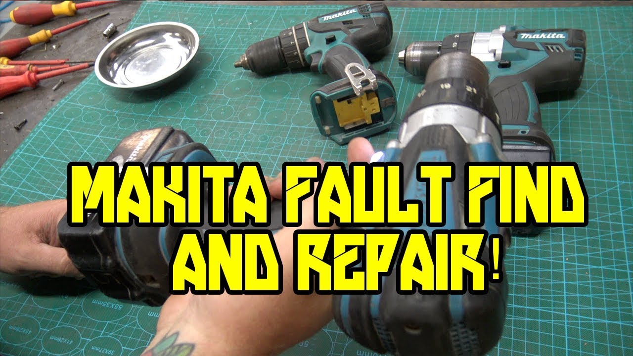 Most common problem with a drill not working! Makita 18 volt drill fault  finding and repair
